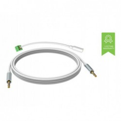 VISION 3m White 3.5mm Minijack cable